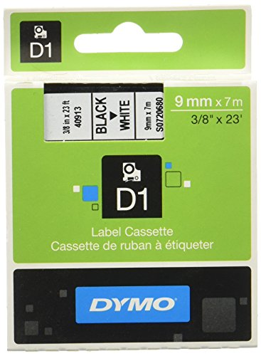 dymo-d1-standard-self-adhesive-labels-for-labelmanager-printers-9-mm-x-7-m-red-print-on-white