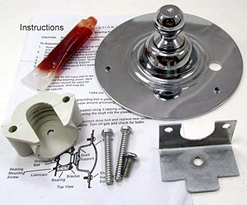Ea459829 - New Dryer Drum Kit With Ball Shaft, Ball Bearing, Ball Bearing Retainer, Hi Temp Lubricant And Screws For Frigidaire Electrolux Dryers