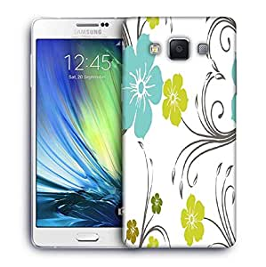 Snoogg Blue And Green Floral Pattern Designer Protective Phone Back Case Cover For Samsung Galaxy ON5