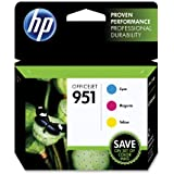 HP 951 Cyan, Magenta & Yellow Original Ink Cartridges (CR314FN)