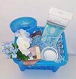 Beautiful Blue April Bath & Shower Scented Body Lotion Bath & Body Works Mother's Day Women's Gift Basket Bundle Set