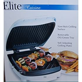 Elite Gourmet Nonstick Indoor Contact Grill