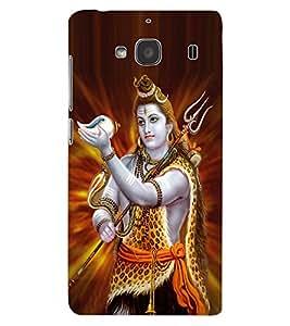 ColourCraft Lord Shiva Design Back Case Cover for XIAOMI REDMI 2S