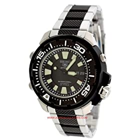 Seiko SKZ253K1 Men's Seiko 5 Automatic Dive Watch Black Dial