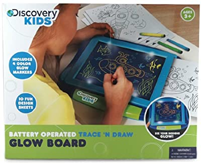 NKOK Discovery Kids Trace N' Draw Glow Board Kit
