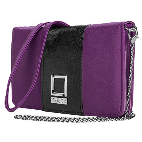 lencca-kyma-series-wallet-clutch-shoulder-cross-body-bag-purple-black