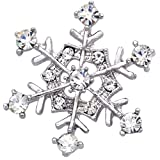 Snow Snowflake Brooch Pin Wedding Bride Women Fashion Jewelry thumbnail