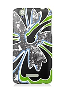 Amez designer printed 3d premium high quality back case cover for YU Yureka (Abstract Flower)