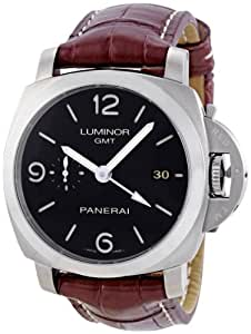 Panerai Men's PAM00320 Luminor 1950 3-Days Automatic GMT Black Dial Watch