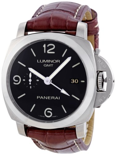 Panerai Men's PAM00320 Luminor 1950 3-Days Automatic GMT Black Dial Watch