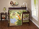 NoJo Little Bedding  Jungle Time 4 Piece Crib Set