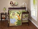 NoJo Little Bedding  Jungle Time 4 Piece Crib Set