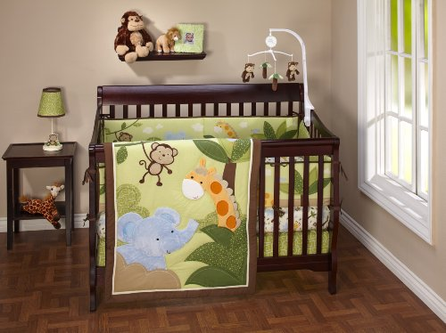 Nojo Little Bedding Jungle Time 4 Piece Crib Set (Discontinued By Manufacturer)