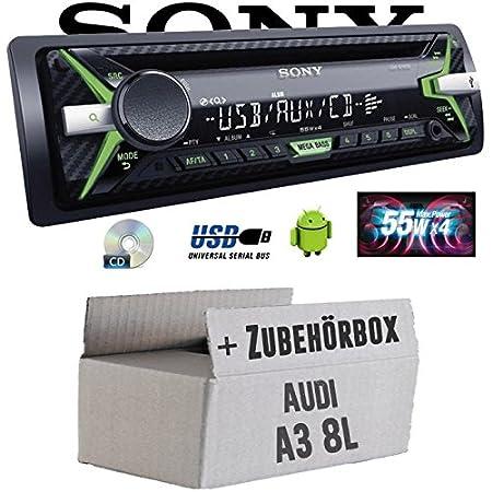 Audi A3 8L - Sony CDX-G1102U - CD/MP3/USB Autoradio - Einbauset