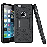iPhone 6s Case, BUDDIBOX [Wave] Slim Rugged Durable Protective Case with Kickstand for Apple iPhone 6 and 6s, (Black)