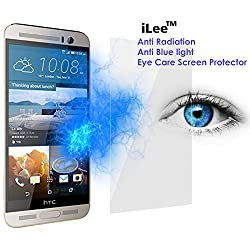 iLee Anti Radiation Eye Care Premium TEMPERED Glass Screen Protector For HTC One M9 PLUS