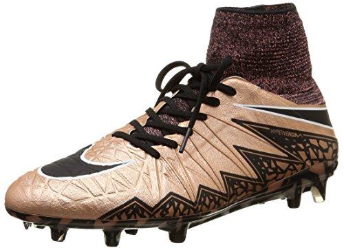 Nike Hypervenom Phantom Ii Fg, Scarpe sportive, Uomo, Multicolore (Mtlc Rd Brnz/Blk-Grn Glw-White), 43