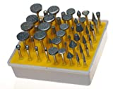 50pc DIAMOND BURR SET- Ceramics Tile Glass Lapidary for ROTARY TOOLS