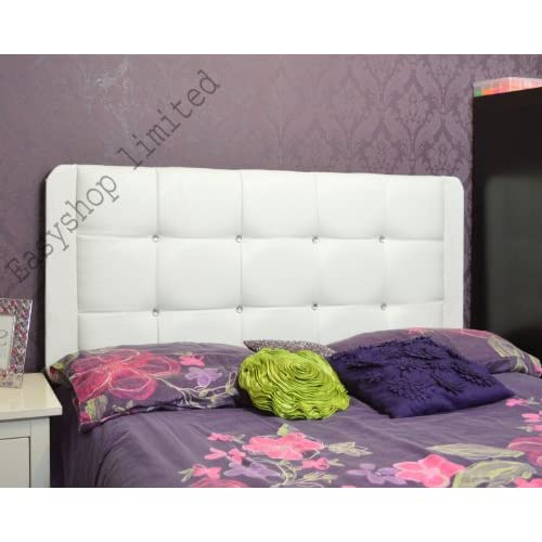 5FT Kingsize Top Luxury Quality MARMARIS Crystal Diamante Faux Leather Headboard Single Double Kingsize Queen...