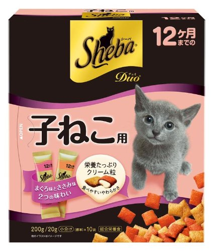 シーバ (Sheba) デュオ 12ヶ月までの子ねこ用 200g(20g×10袋入) 子猫用