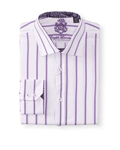 English Laundry Men's Stripe Dress Shirt