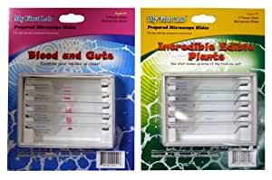 My First Lab Prepared Slide Sets - Blood & Guts and Incredible Edible Plants (Pack of 2)