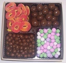 Scott\'s Cakes Large 4-Pack Chocolate Peanuts, Chocolate Dutch Mints, Chocolate Malt Balls, & Peach Rings
