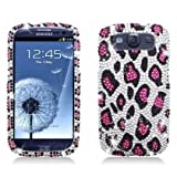 Aimo SAMI9300PCLDI671 Dazzling Diamond Bling Case For Samsung Galaxy S3 I9300 - Retail Packaging - Leopard Pink...