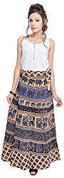 Soundarya Women's Cotton Wrap Skirt (6041, Long)