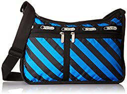 LeSportsac Deluxe Everyday Shoulder Bag, Ace Stripe, One Size