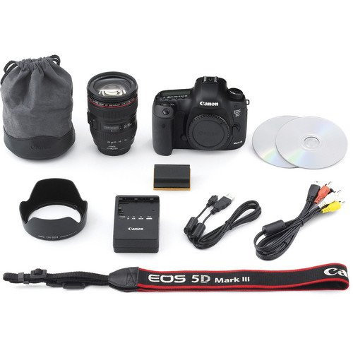 Canon Eos 5D Mark Iii 22.3 Mp Dslr Camera - Black (Kit W/ Ef Is 24-105Mm)