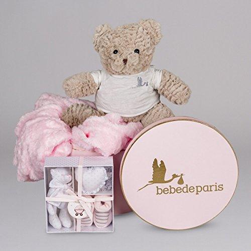 Canastilla-regalo-beb-en-caja-modelo-Happy-con-Osito-manta-y-Set-Velour-BebeDeParis-Rosa-caja-regalo-recin-nacido