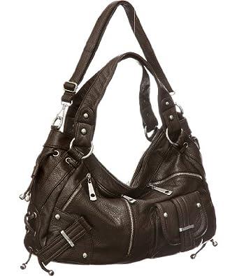 Dark Brown Large ''Utilitarian'' Crossbody-to-Shoulder Bag Hobo