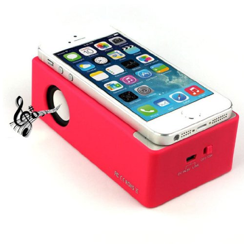 Towallmark New Magic Interaction Wireless Cordless Speaker For Iphone 4Gs 5G/5S/5C I9300 I9500 Mp3(Hot Pink)