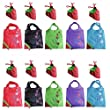 LIFECART Strawberry Foldable ECO Bags Reusable Shopping Tote Bags