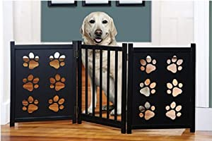 Etna Pet Gate with Paw Cutouts