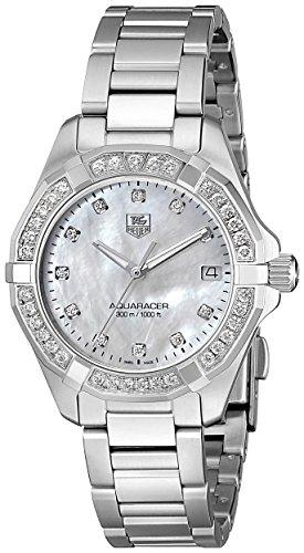 TAG Heuer Women's Aquaracer Diamond-Accented Stainless Steel Bracelet Watch WAY1314.BA0915 300
