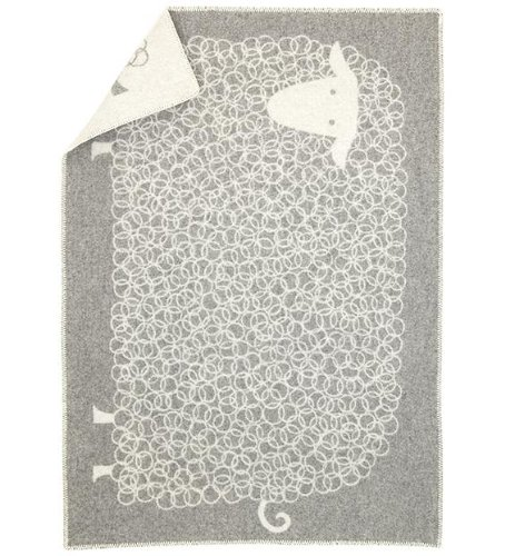 Lapuan Kankurit Kili Wolldecke grau weiß 90x130 cm