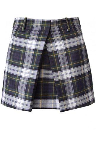 McQ Alexander McQueen Tartan Pleat Skirt