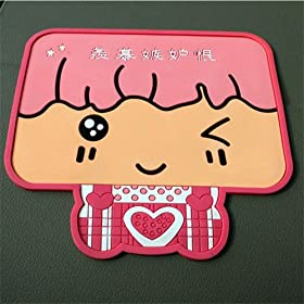 Cartoon BigHead Magic Anti-slip Non-slip Mat Car Dashboard Adhesive Mat Sticky Pad for Cell Phone Cd Electronic Devices Phone Pad