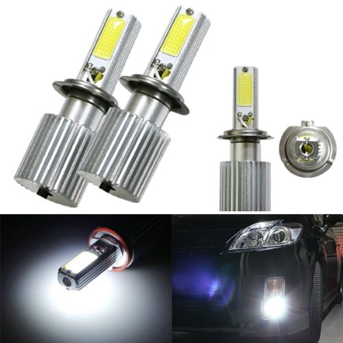 Ijdmtoy Extremely Bright Hid Equivalent 6000K Oem Xenon White 20W High Power H7 Led Bulbs Upgrading Kit For Headlights Or Fog Lights
