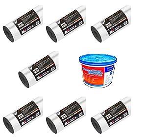 7 x ERFURT Insulating Graphite Wall Lining Paper 5M2 Coverage +Thermal Adhesive