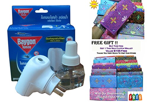 Baygon Liquid Electric Mosquito Repeller 30 Days 0.77 Oz On Sell With Complementary