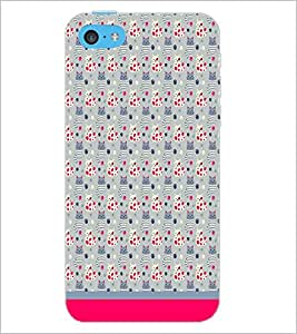 PrintDhaba Kitty pattern D-1773 Back Case Cover for APPLE IPHONE 5C (Multi-Coloured)