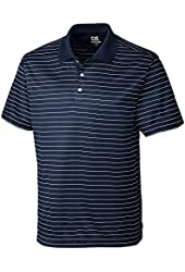 Cutter & Buck Mens Drytec Crewhouse Stripe Polo