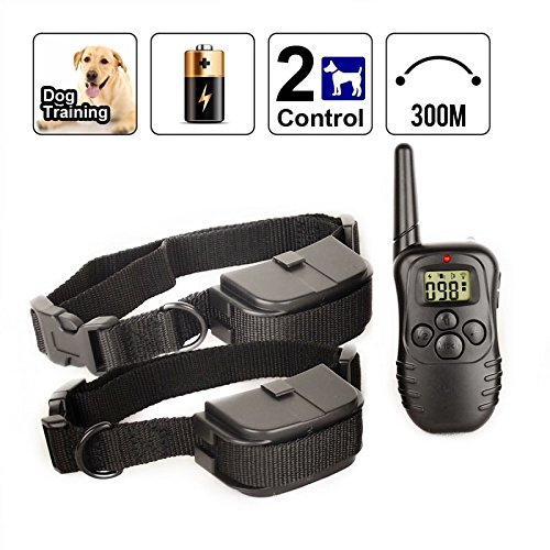 Happypet® Pet Dog Training Collar With Lcd Display Remote For Two Dogs