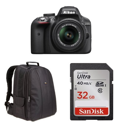 Sale!! Nikon D3300 with 18-55mm VR II Zoom Lens (Black) + Free Accessories