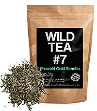 Organic Sencha Green Tea, Wild Tea #7, Emerald Gold Sencha Loose Leaf Tea (8 ounce)