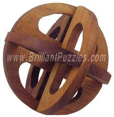 Picture of Fun Rolling Globe - 3D Wooden Puzzle Brain Teaser (B002P8RGQG) (Brain Teasers)