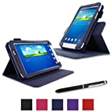 rooCASE Samsung Galaxy Tab 3 7.0 Case - Dual View Multi-Angle Stand Tablet Case - NAVY